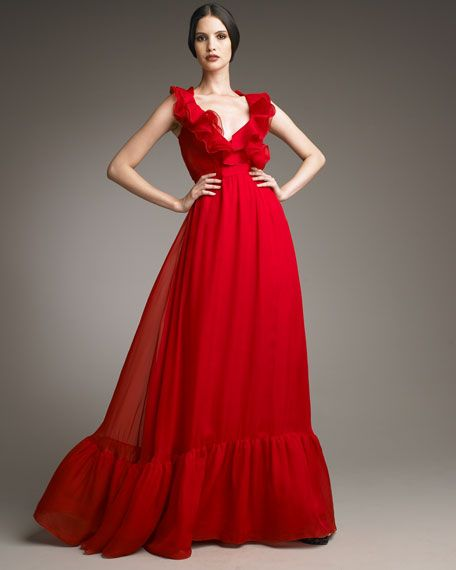 DRESSES - Long dresses Red Valentino vfhyUc7Txk