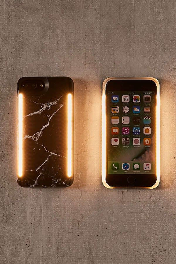 3f2f6804e8a Slide View  1  Lumee Duo Black Marble iPhone 8 7 6 6s Plus Case