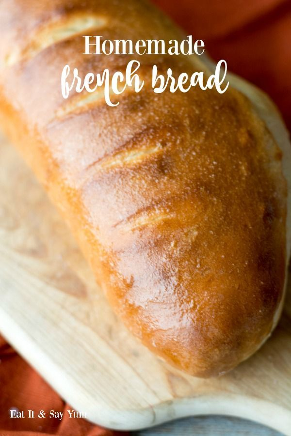 Homemade French Bread- it is perfectly light and airy, brushed with melted butter, and so delicious