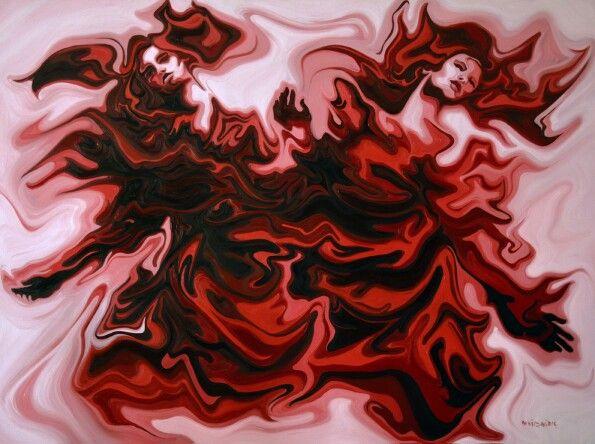 Tuval üzerine yağlı boya ( oil on canvas ) 150 x 200 cm, fire , by deniz sağdıç artist