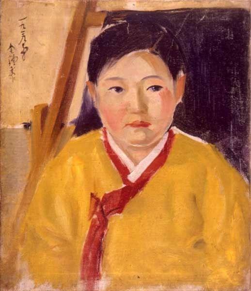 김종태_노란저고리_1906
