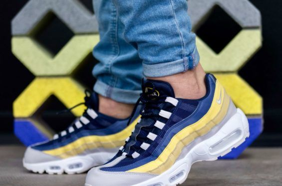 An On Feet Look At The Nike Air Max 95 Lemon Wash | Nike air