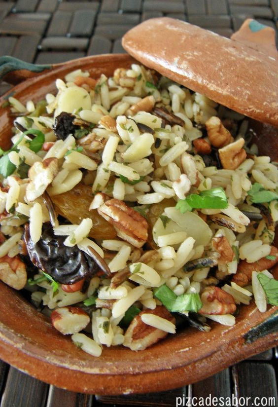 Arroz salvaje con frutos secos