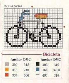 bicicleta en punto de cruz - Buscar con Google                              …