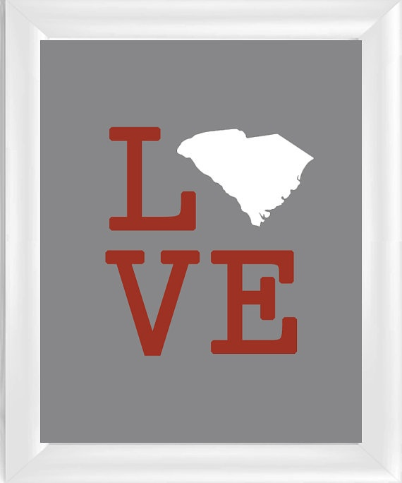 Love South Carolina - SC - 8x10 Wall Art