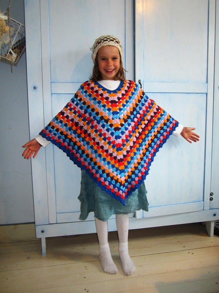 Kleurige Poncho Haken Met Patroon Haken Amp Crochet