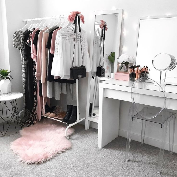 Wardrobe inspiration, beauty room, makeup vanity, IKEA Malm Dressing Table