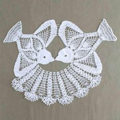 #62 Lovebird Doily Crochet Pattern. http://www.maggiescrochet.com/lovebird-doily-crochet-pattern-p-2048.html#.UP1YS2eUsSY Birds of a feather are stitched together in this gorgeous crochet pattern. Birds are crocheted seperately and then stitched together with a lace skirt. The birds are worked with crochet cotton thread size 10 and a steel crochet hook.