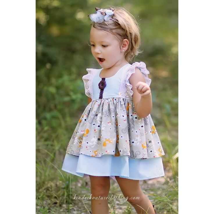Fall Baby Fox and Friends Dress - Kinder Kouture Boutique Clothing - 1
