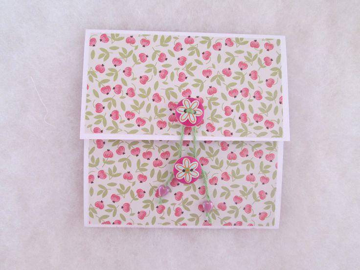 Une enveloppe pour chèque ou billet : Emballages cadeaux par les-petits-papiers-de-marie