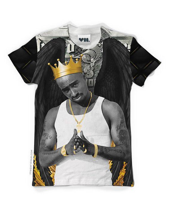 King Tupac Unisex T-shirt - Listed on Etsy