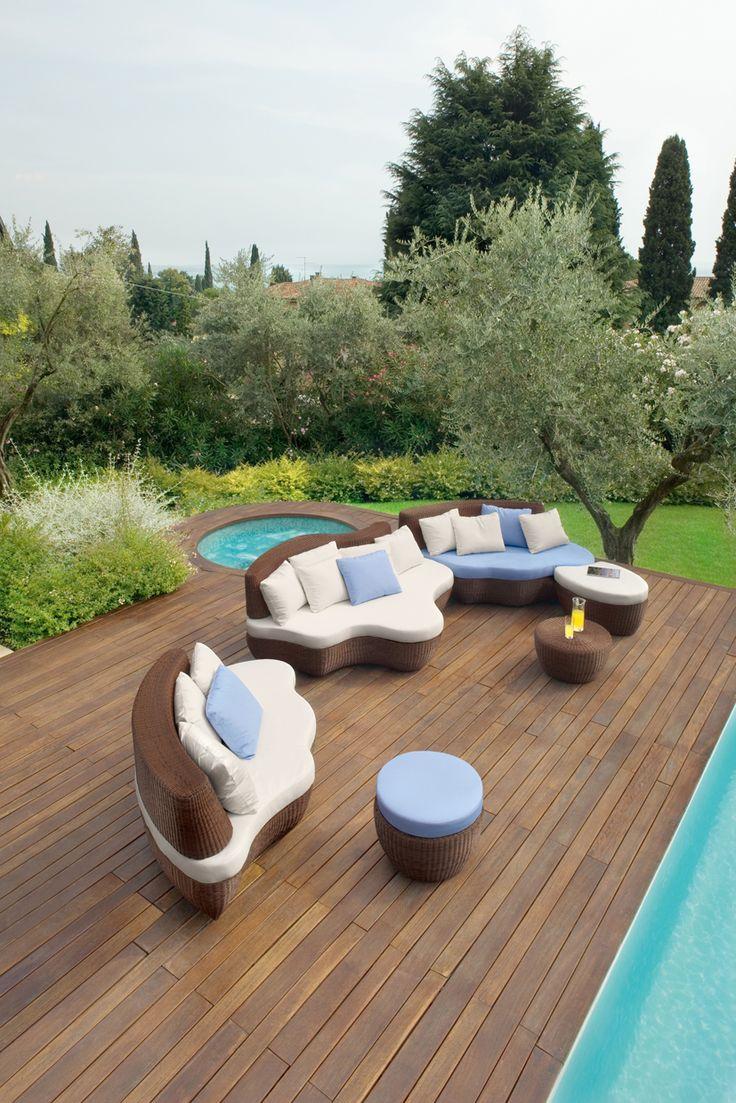 Aluminium garden sofa LES ILES | Garden sofa - Roberti Rattan