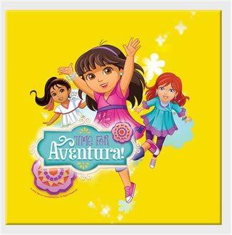 Dora ve Arkadaşları - Macera Zamanı Kendin Tasarla - Kanvas Tablo 25x25cm Kare