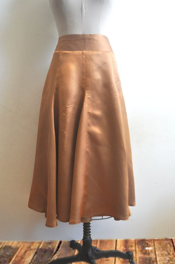 Bronze flare skirt handmade boho Victorian by VintagesqueClothing