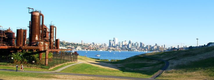 Seattle's Gas Works Park is not only unusual with parts of an old coal gasification plant, it also offers views of the city and lots of space to relax.