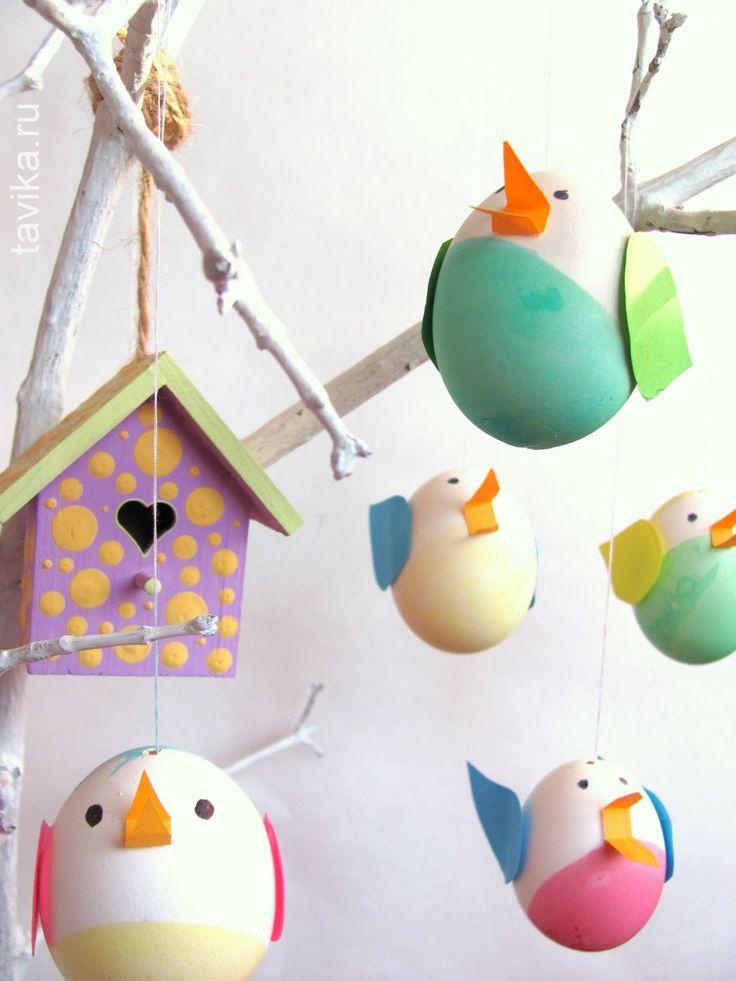 поделка к Пасхе из яиц