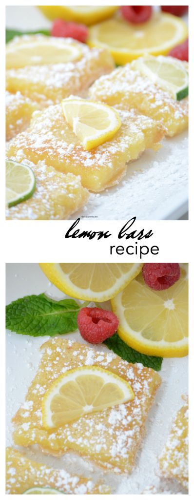 Recipes | These Lemon Bars are the perfect Spring or Summer treat.  Tangy and delicious, the best lemon bar recipe we have tried.