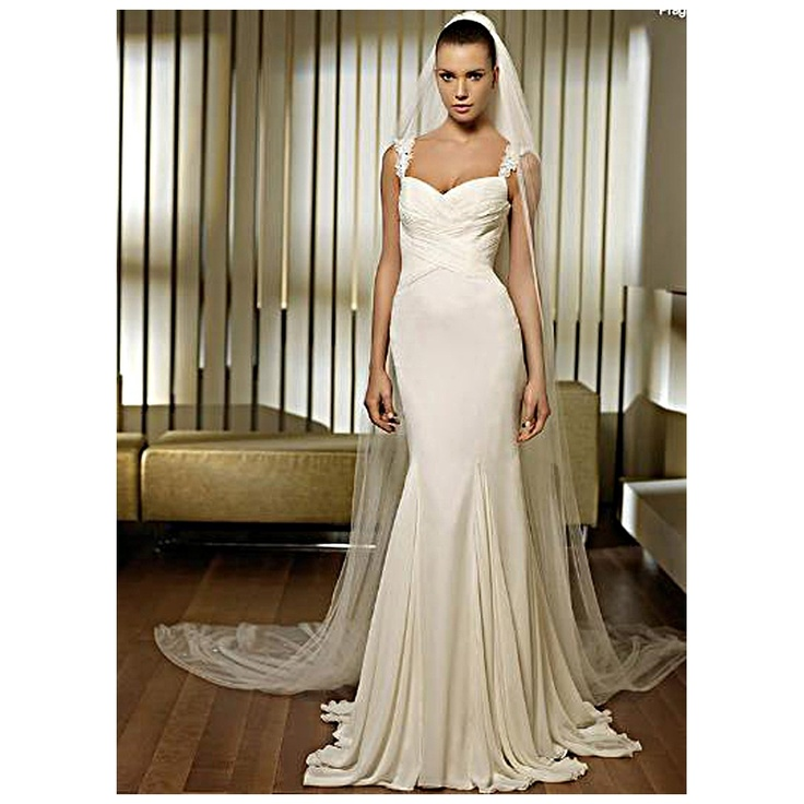 This Is So Gorgeous!! Slinky Chiffon Godet Pleated Wedding