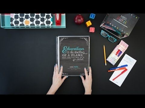 Erin Condren Teacher Lesson Planner - YouTube.  It is AMAZING.  And $59 base price.  I have to have one next year!!!!