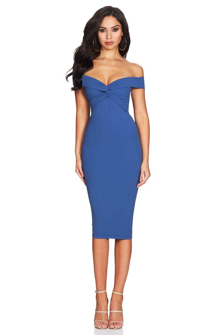 Nookie - Dolly Midi Dress In Denim Blue