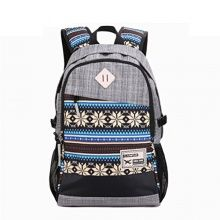 Vere Gloria Men Women Casual Travel Backpacks Striped Tribal Vintage Ethnic Aztec Hiking Daypacks College Satchel High Middle School Students Rucksacks Large Capacity Double Shoulder Strap Laptop Bags (8-Grey) - Backpacks n BagsBackpacks n Bags