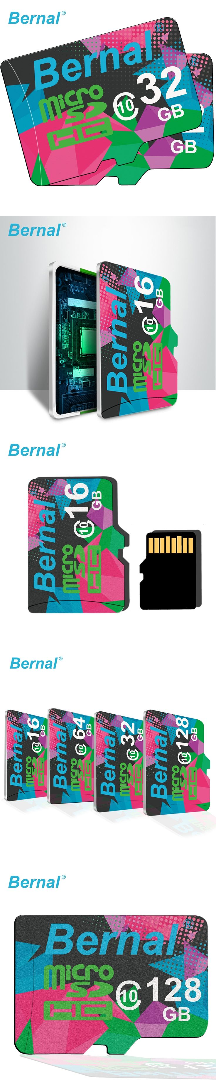 2017 Bernal micro sd card 64gb 128G Class10 cartao de memoria micro sd 8GB 16GB microsd 32GB mini sd card Memory card TF card