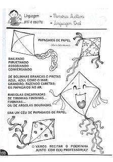 Cantinho Poético e Pedagógico : POESIAS - ATIVIDADES DE LEITURA