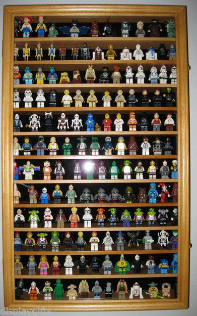 This would be such a great idea for all of my son's Lego Mini Figures!  LEGO MEN / Action Figures / Disney / Minatures Display Case Wall Cabinet -HW04 $74.95
