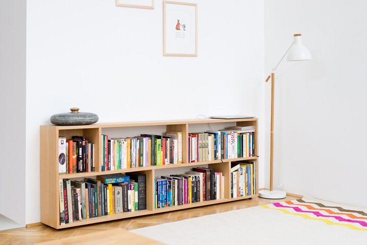 Bookshelf oak veneer - barlang muhely