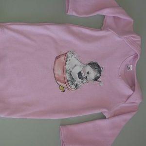 Pink Long Sleeve Bath Baby