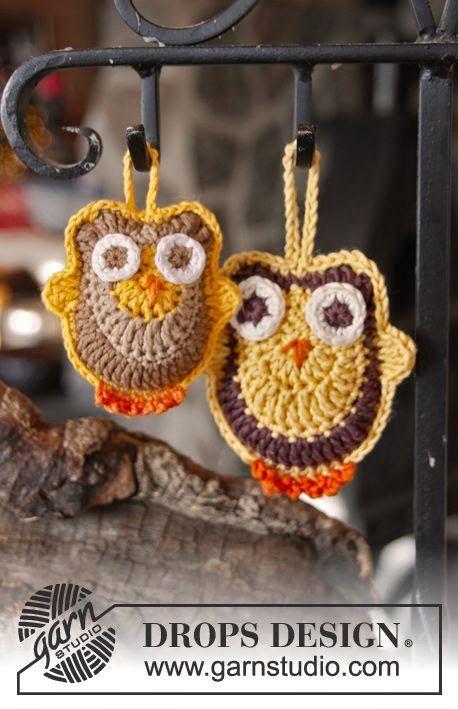 1047 best corujas de croche images on Pinterest | Búhos de ganchillo ...