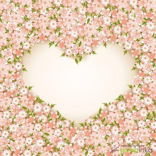 Нежные фоны для распечатки ко Дню Святого Валентина + исходные файлы | Скрапинка - дополнительные материалы для распечатки для скрапбукинга