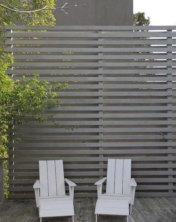 Front/Back slat fence/screen