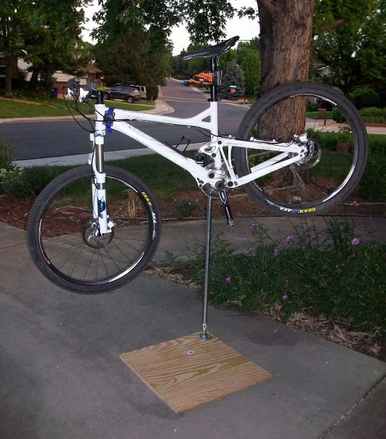 A good bike work stand makes cleaning, maintaining, and repairing your bike exponentially easier. Commercial models start at about $150 and a really good o