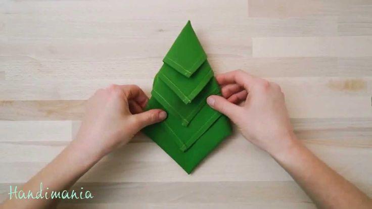 Christmas Tree Napkins How To Fold A Napkin Into A