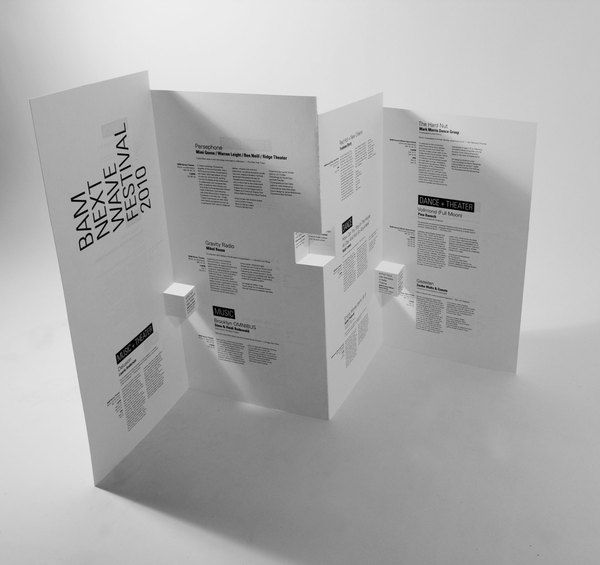Brooklyn Academy of Music brochure by Ruth Tsang, via Behance