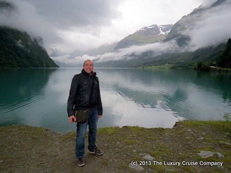 CRYSTAL SERENITY NORTH CAPE CRUISE REVIEW DAY 12 Olden is a small village located at the inner end of the Nordfjord. The head of the fjord is characterised by varied and dramatic scenery, with peaceful valleys and neat farms lying in contrast to glaciers, waterfalls and majestic mountains