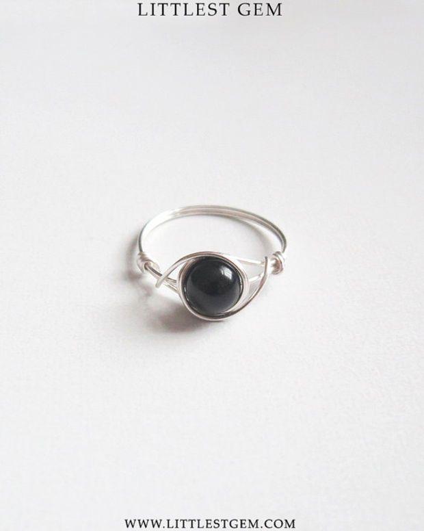 Black Obsidian Ring