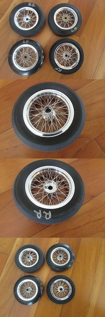 Tether Cars 168247: Custom Hand Laced 48 Spoke Wire Wheels Aluminum Rims 3 1 2 3 5 8 Dia. W Tires -> BUY IT NOW ONLY: $474.99 on eBay!