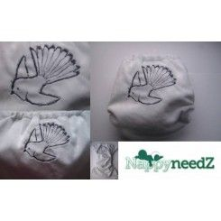 Fantail hand guided embroidery