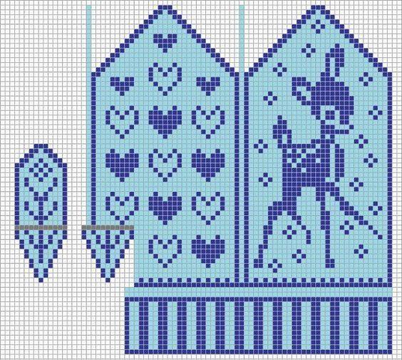 "Вязание. Жаккард - ""Зимняя радуга"" Bambi"