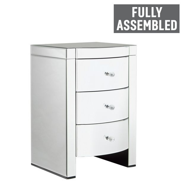 Buy Heart of House Canzano 3 Drawer Mirrored Bedside Chest at Argos.co.uk - Your Online Shop for Bedside cabinets, Bedroom furniture, Home and garden.