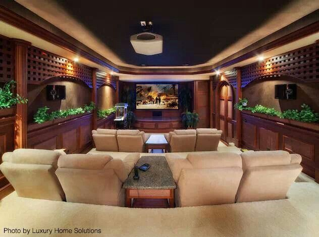 DesignMine Photo Transitional Home Theater