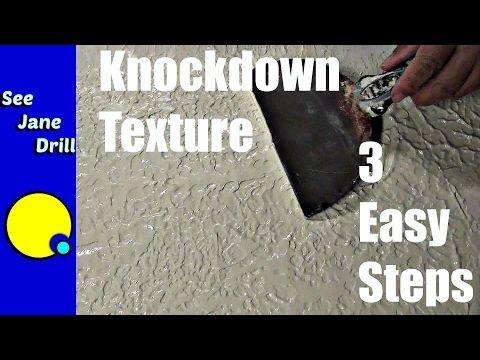 How to Do A Skip Trowel, Mud Trowel Knockdown, Santa Fe, Spanish Knockdown Texture - YouTube