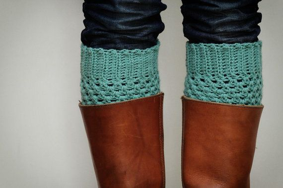 Add a pop of color with boot socks!!Can't wait for fall.: Legs Warmers, Mint Green, Pastel Mint, Crochet Boot Cuffs, Crochet Boots Cuffs, Boots Socks, Boot Socks, Bootsock, Leg Warmers