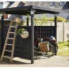Køb Plus Cubic cykelskur byg selv grundmalet sort - her