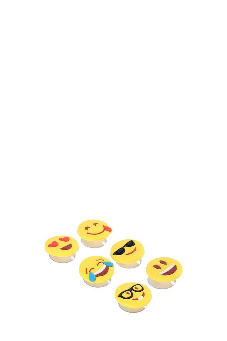 Mr Price Home - set of 6 emoji glass markers (R60)