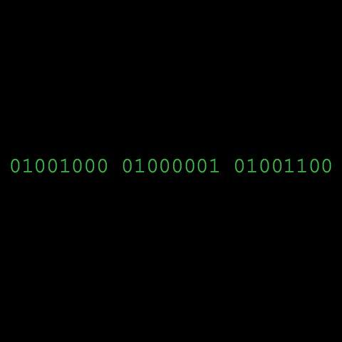 Binary Code T-Shirt:HAL