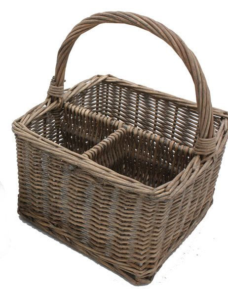 Wicker cutlery condiment caddy - Lifestyle Home and Living