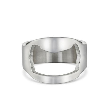 Get the party started in style. Stainless steel #ring with #bottle opener function in back. #Beer #Bière #homme #bijou #bague http://bit.ly/1GB6X17